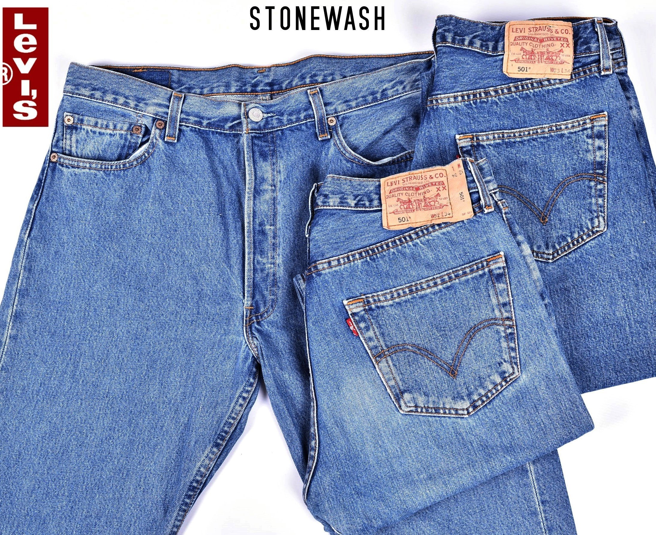 Mens Black Levi 501 Jeans
