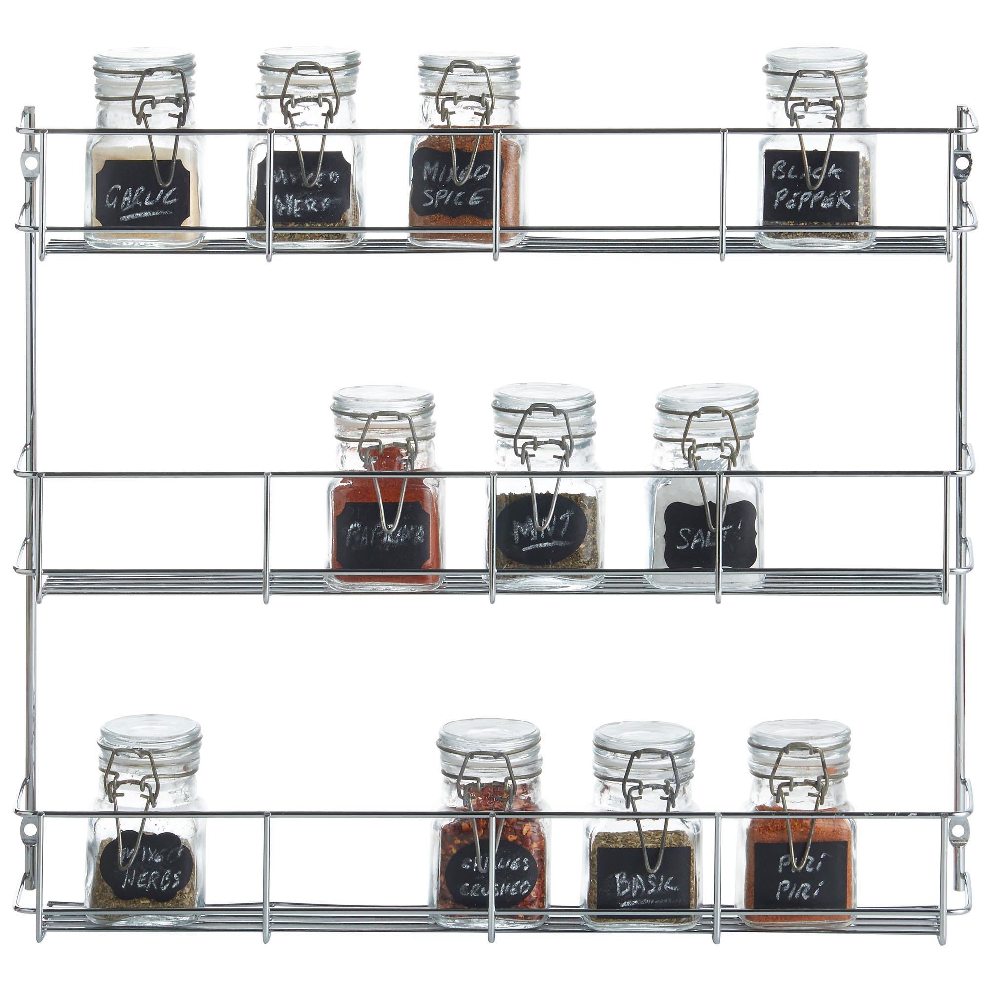 vonshef 1 6 tier spice herb rack jar bottle storage for kitchen cupboard door ebay. Black Bedroom Furniture Sets. Home Design Ideas