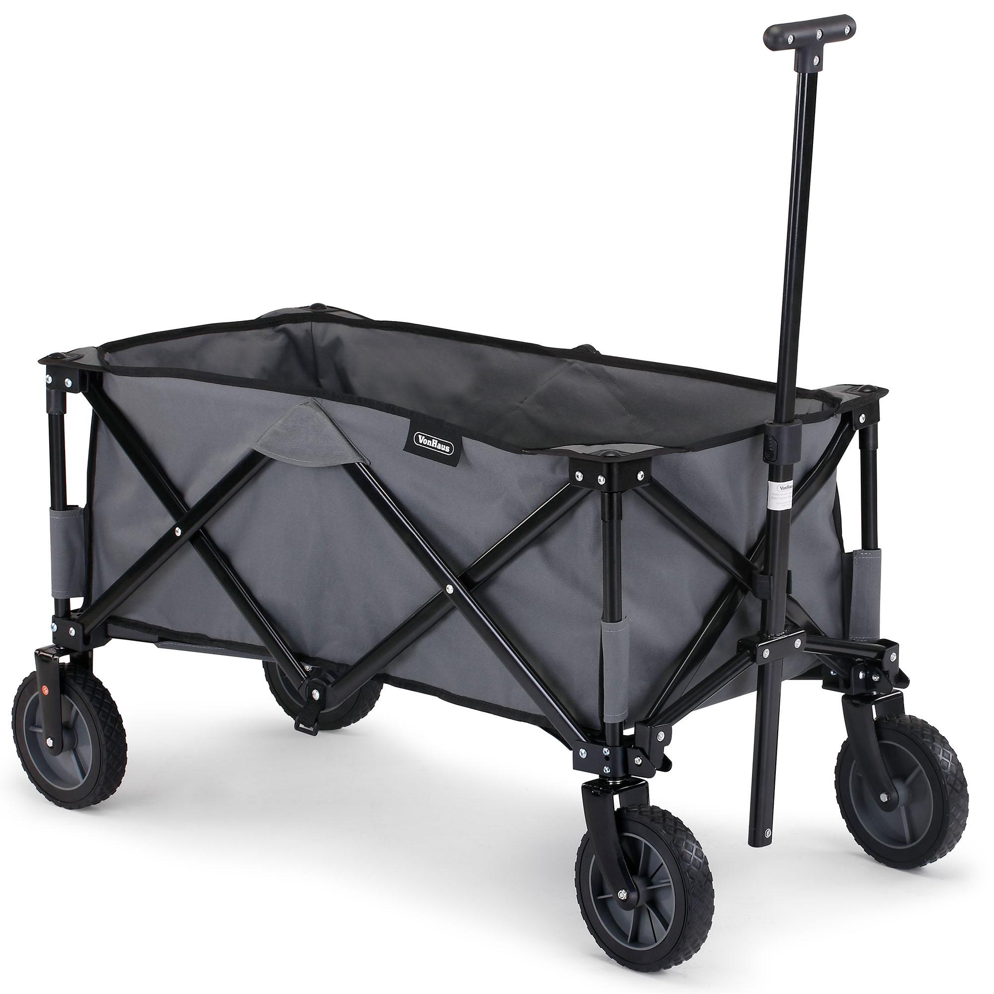 Sentinel Thumbnail 1. Sentinel VonHaus Folding Camping Cart U2013 Collapsible Garden  Wagon