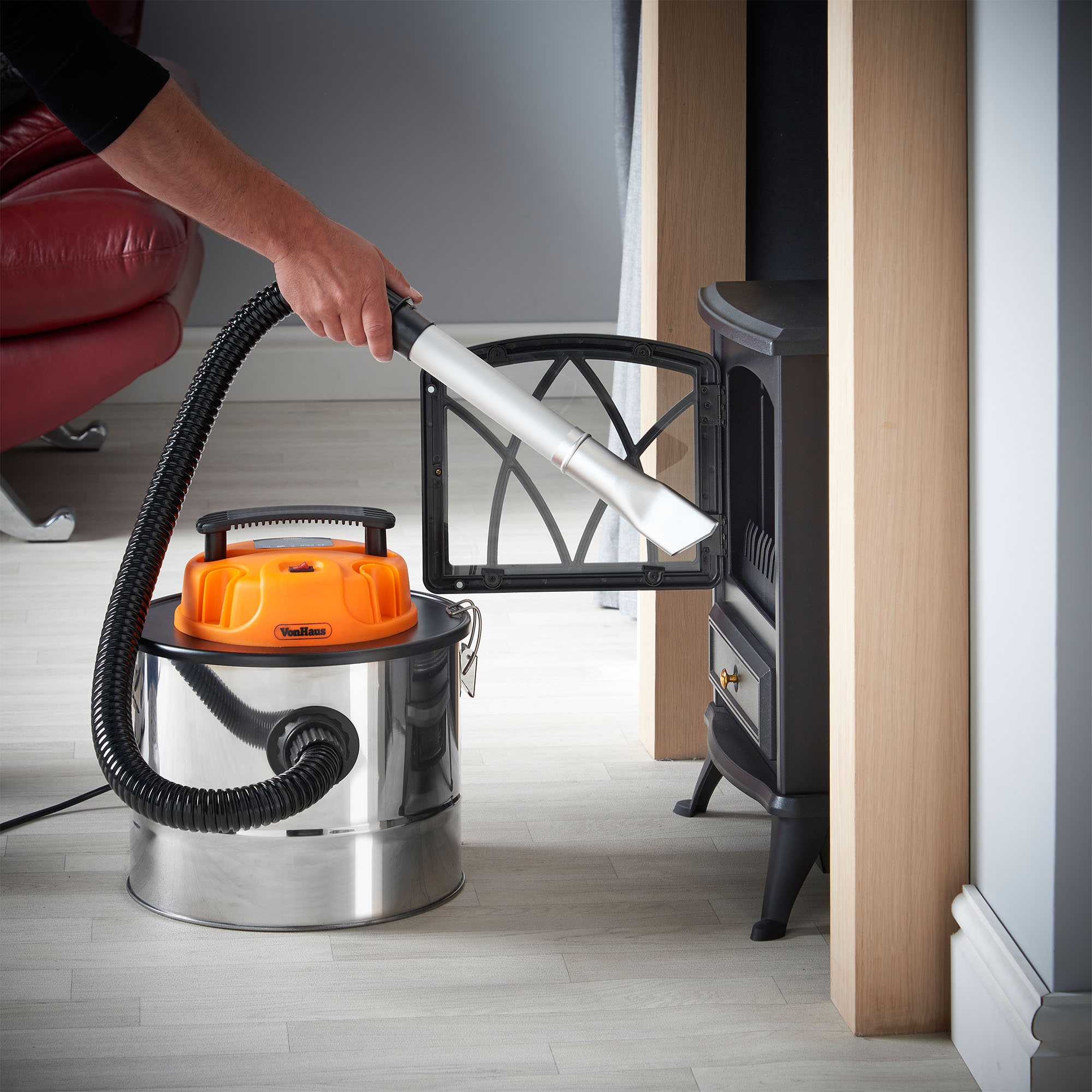 VonHaus 15L Fireplace Ash Vacuum Cleaner Wood Burner BBQ Grill ...