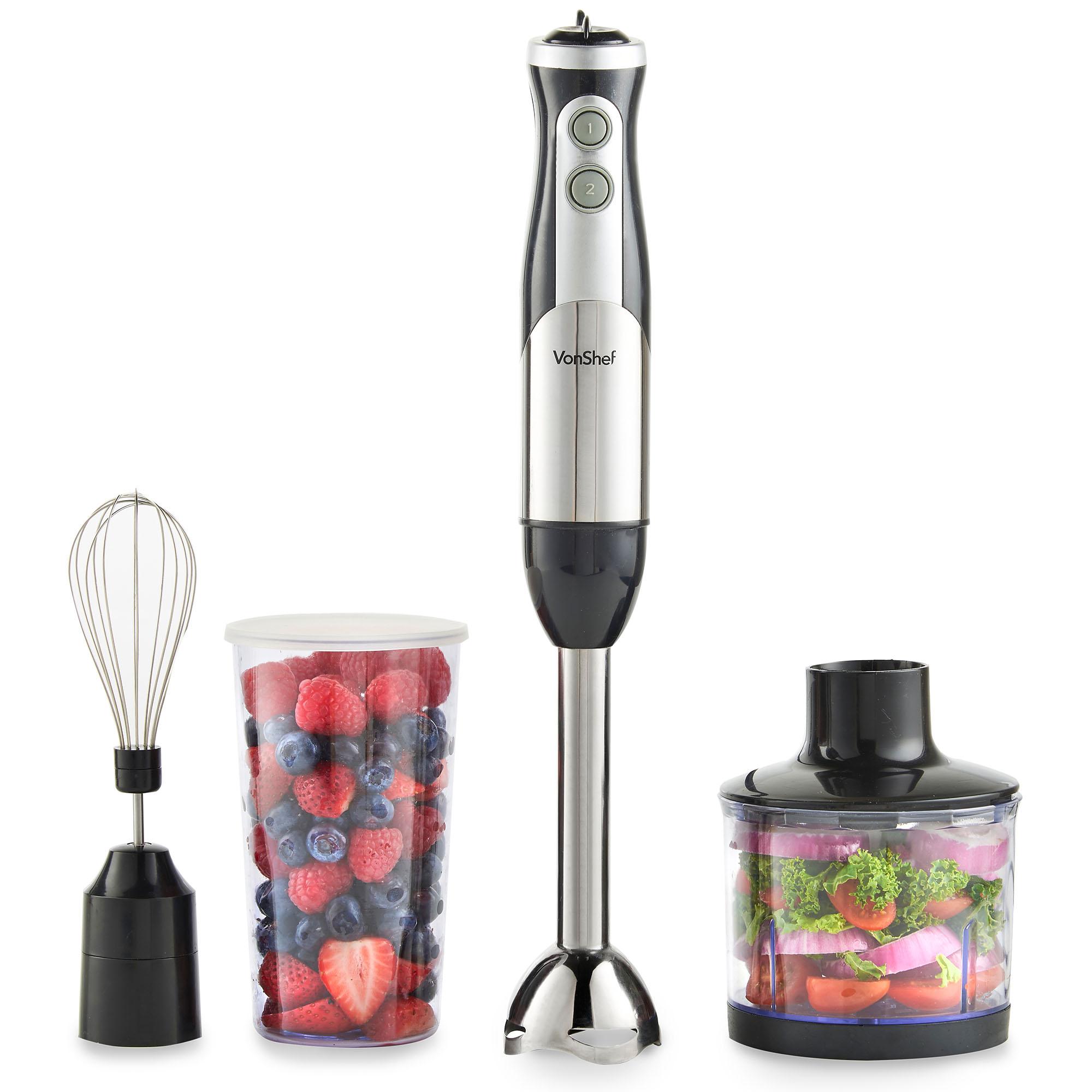 Hand Food Mixer ~ Vonshef hand blender food mixer processor handheld in