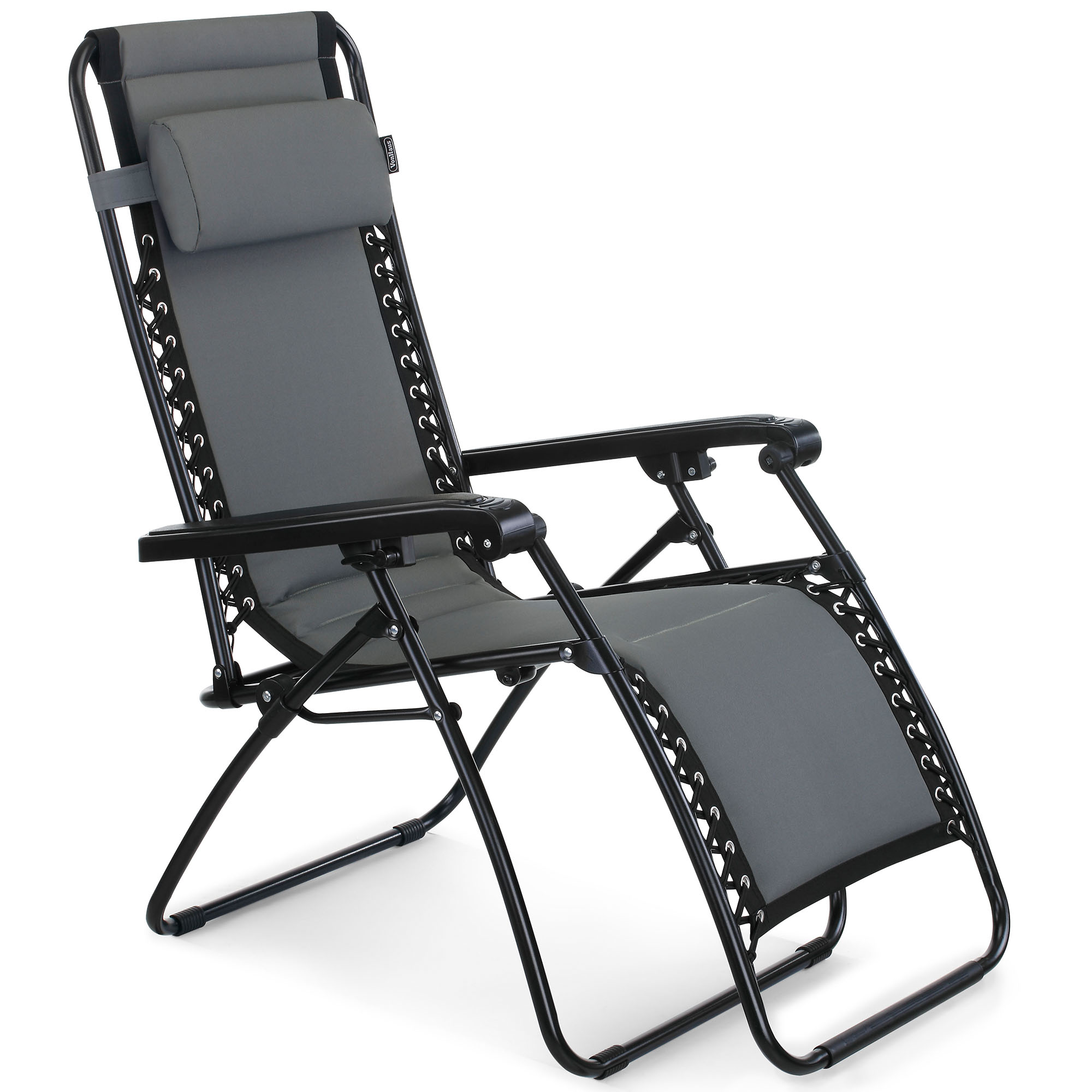 Sentinel VonHaus Oxford 600D Padded Zero Gravity Chair - Outdoor Sun Lounger Recliner for Patio Garden  sc 1 st  eBay : zero gravity garden recliner - islam-shia.org
