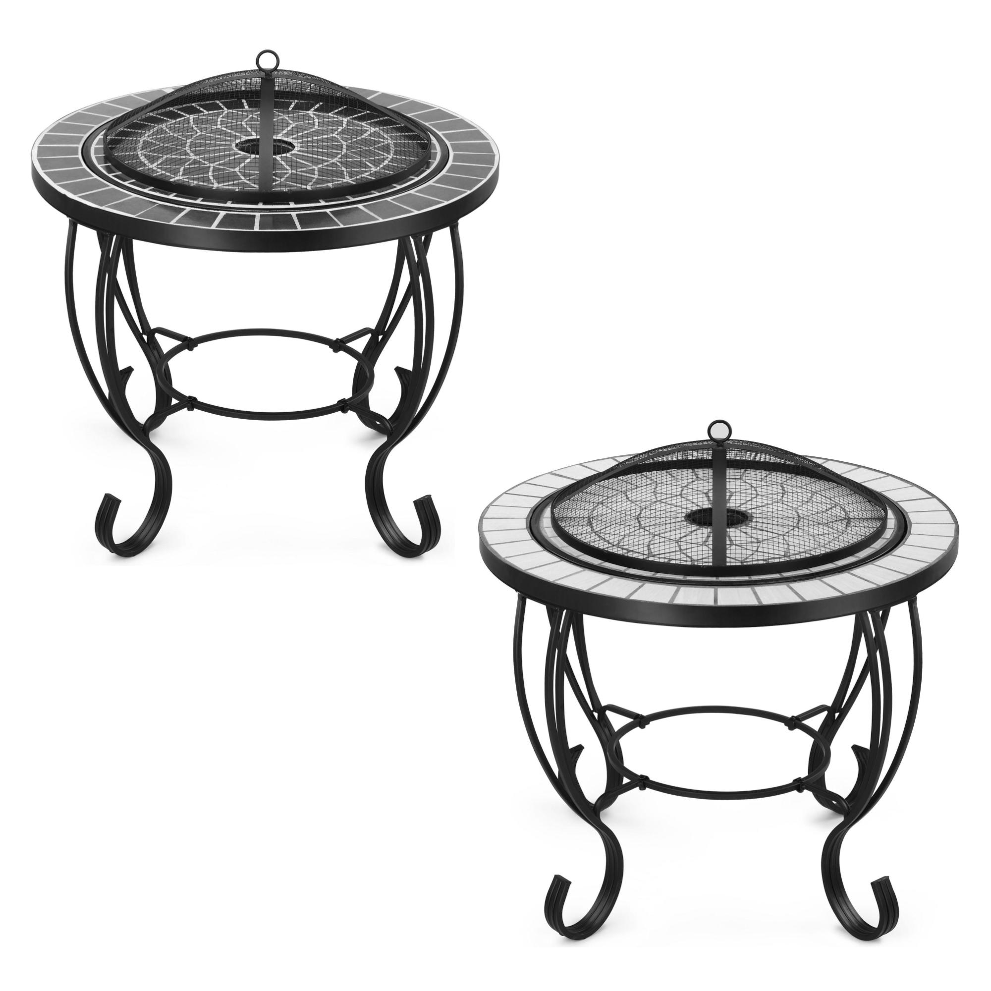 Vonhaus Mosaic Fire Pit Coffee Table Garden Brazier Bbq Outdoor Patio Heater Ebay