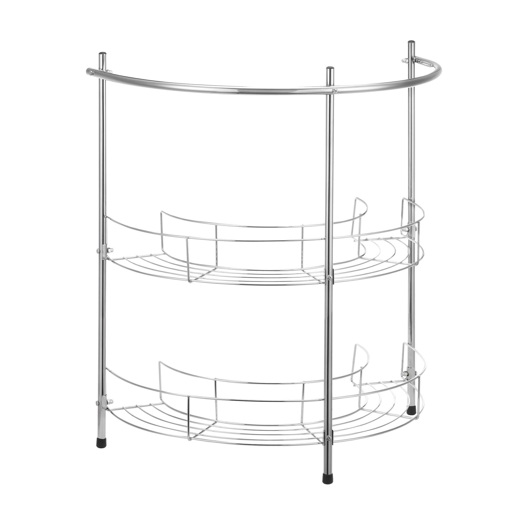 3 Tier Shelf Organizer Under Sink Rack Cabinet Storage: VonHaus 2 Tier Chrome Bathroom Under Basin Sink Storage