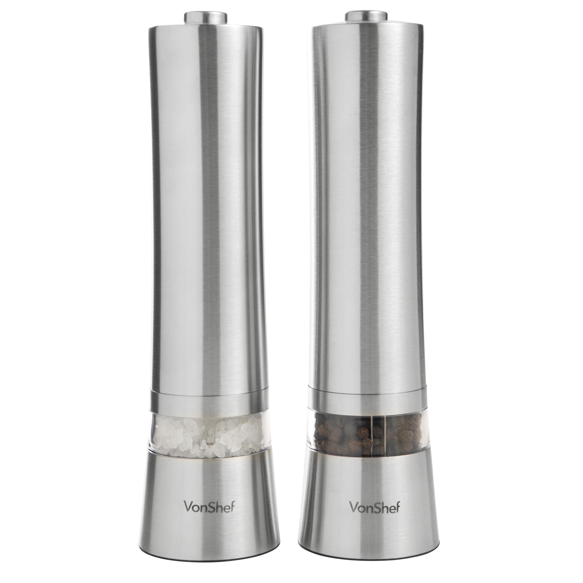 Automatic Salt Dispenser ~ Vonshef electric salt pepper mill grinder electronic