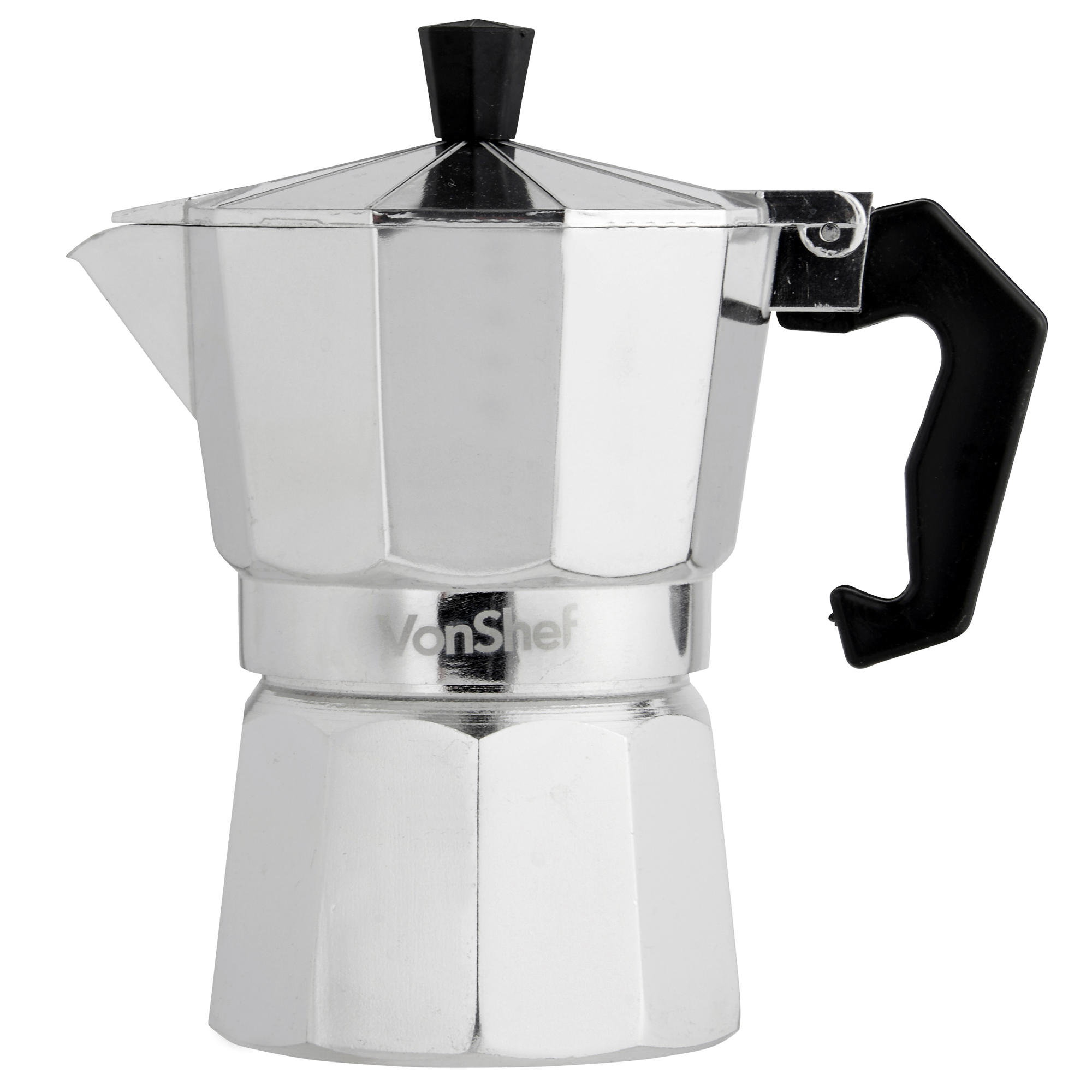 Vonshef 3 cup 150ml italian espresso stove top coffee for Best coffee percolator