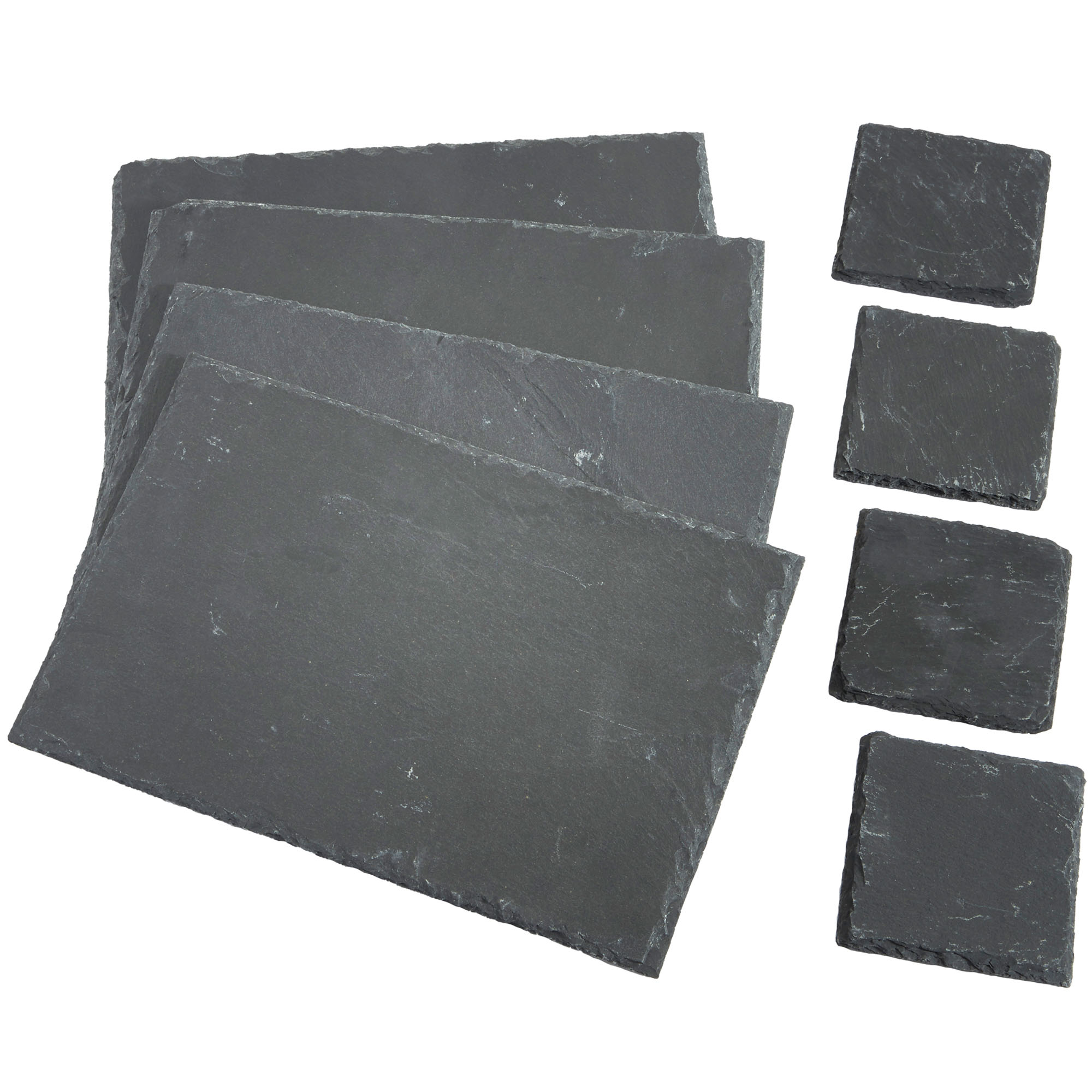 Vonshef 8 Handmade Square Natural Slate Coffee Table Placemats Coasters Ebay