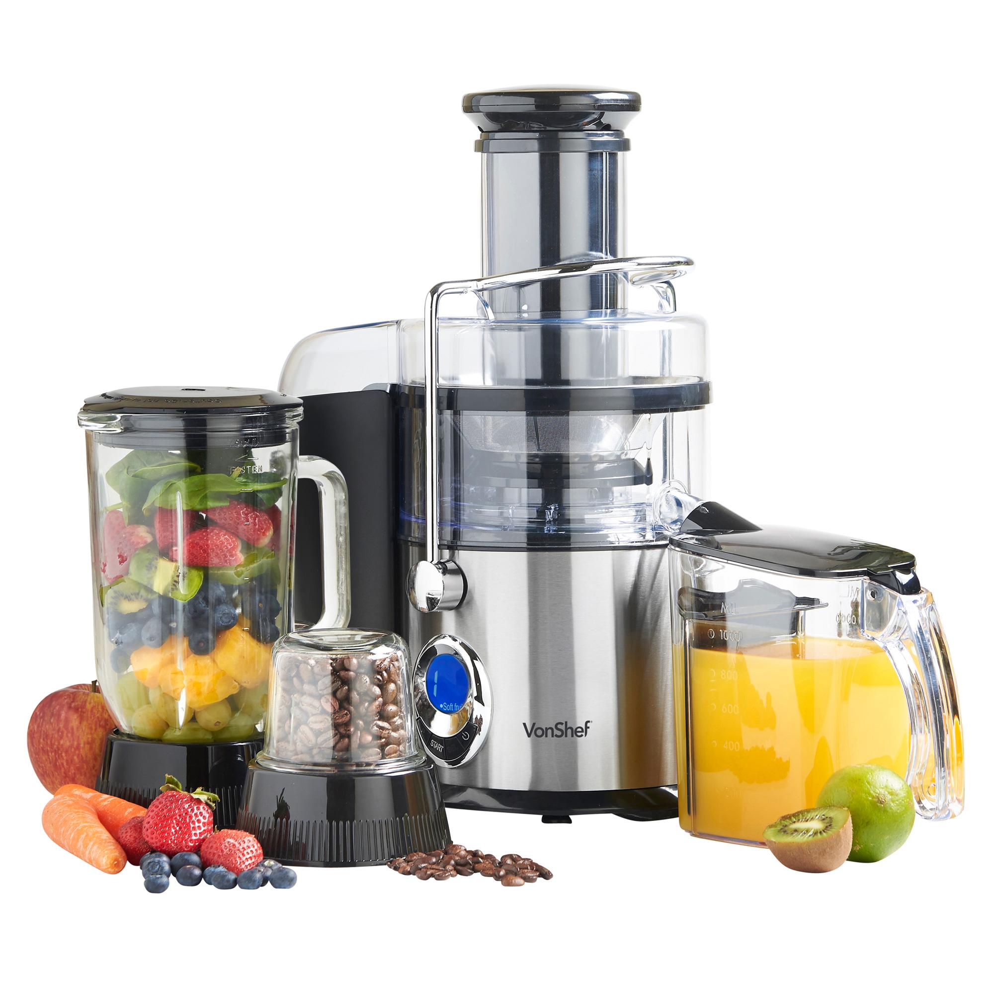 American Made Juicer ~ Vonshef in digital whole fruit vegetable power juicer
