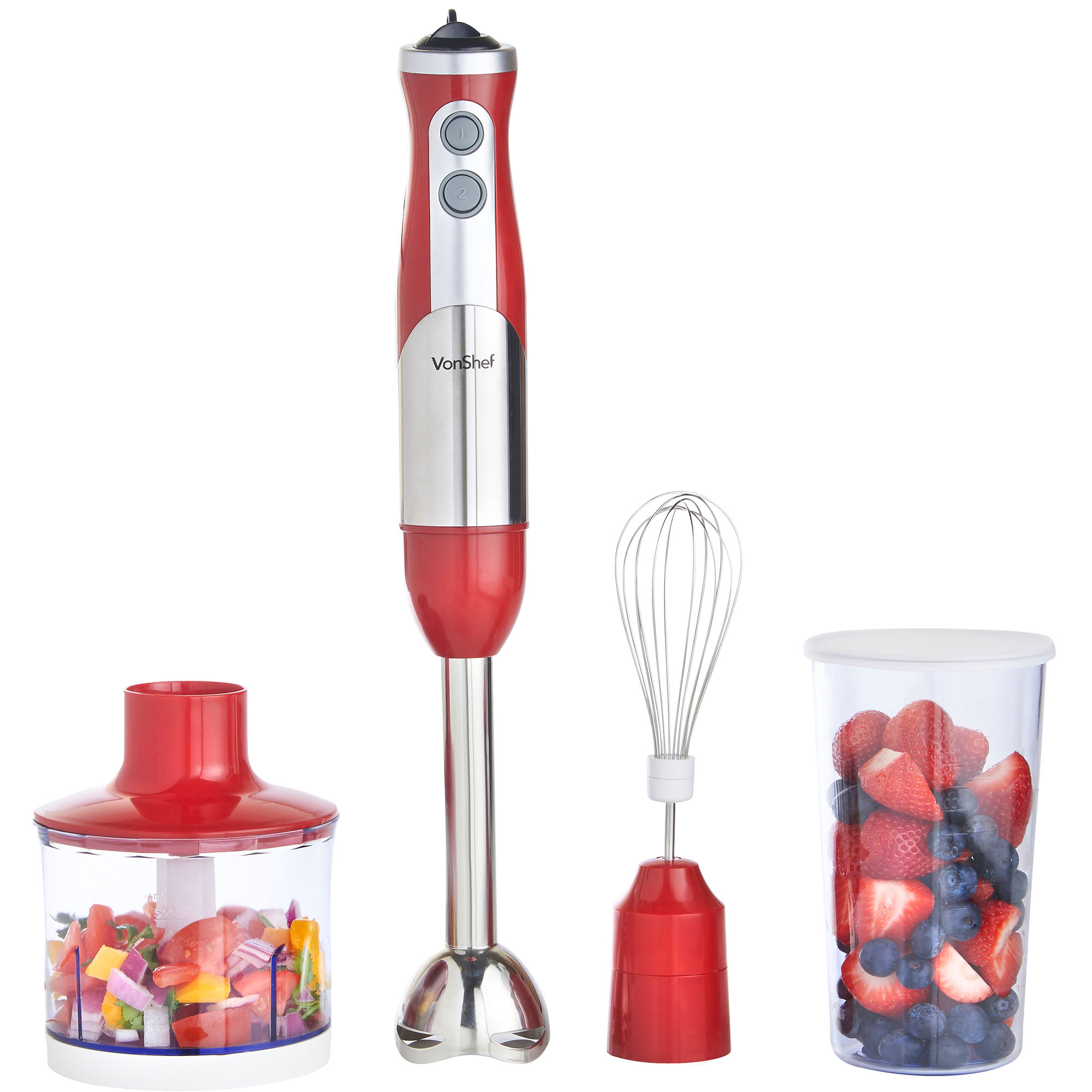 Beat Eggs With A Hand Blender ~ Food processor w hand blender mixer red egg whisk