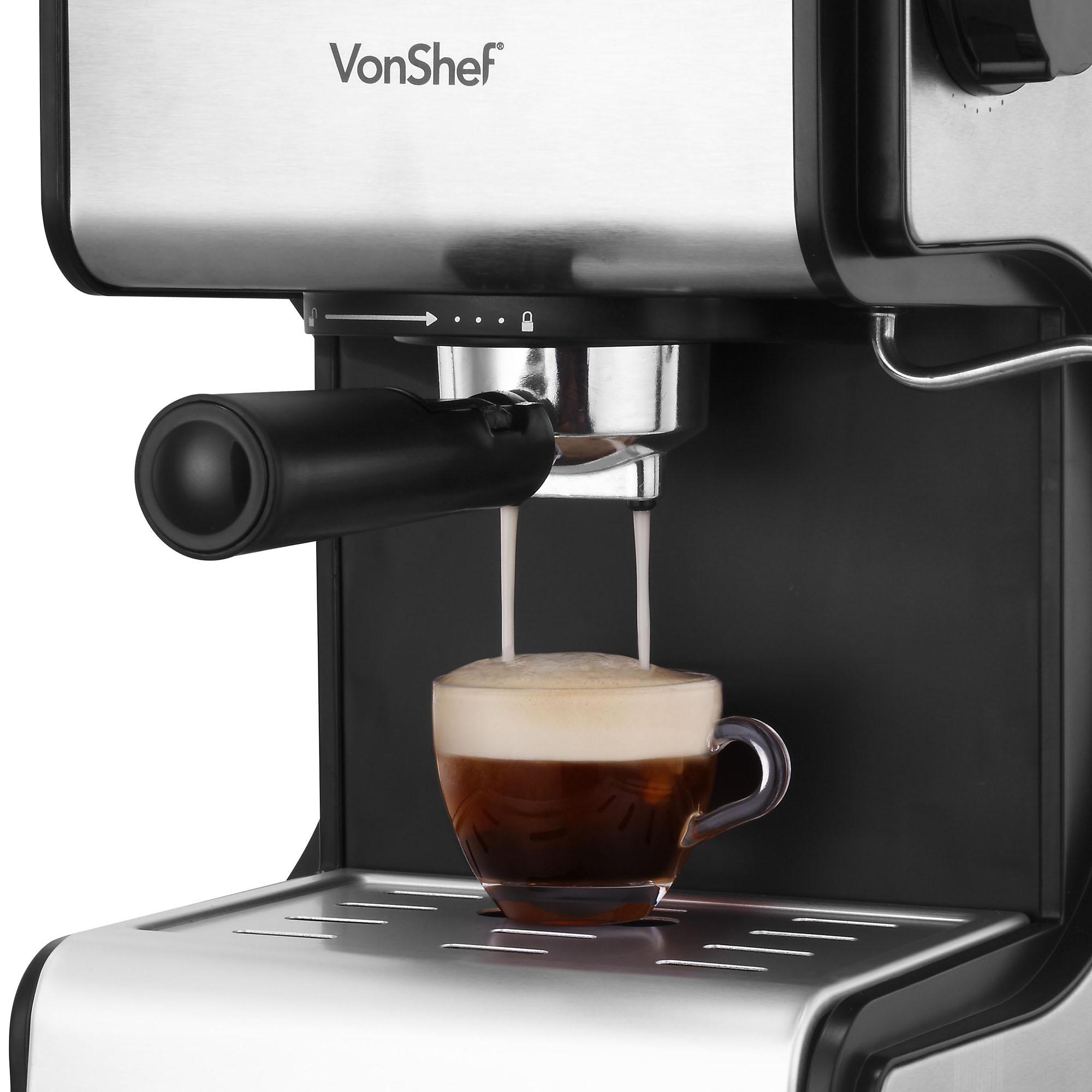 Sentinel Vonshef Premium 15 Bar Stainless Steel Espresso Cuccino Coffee Maker Machine