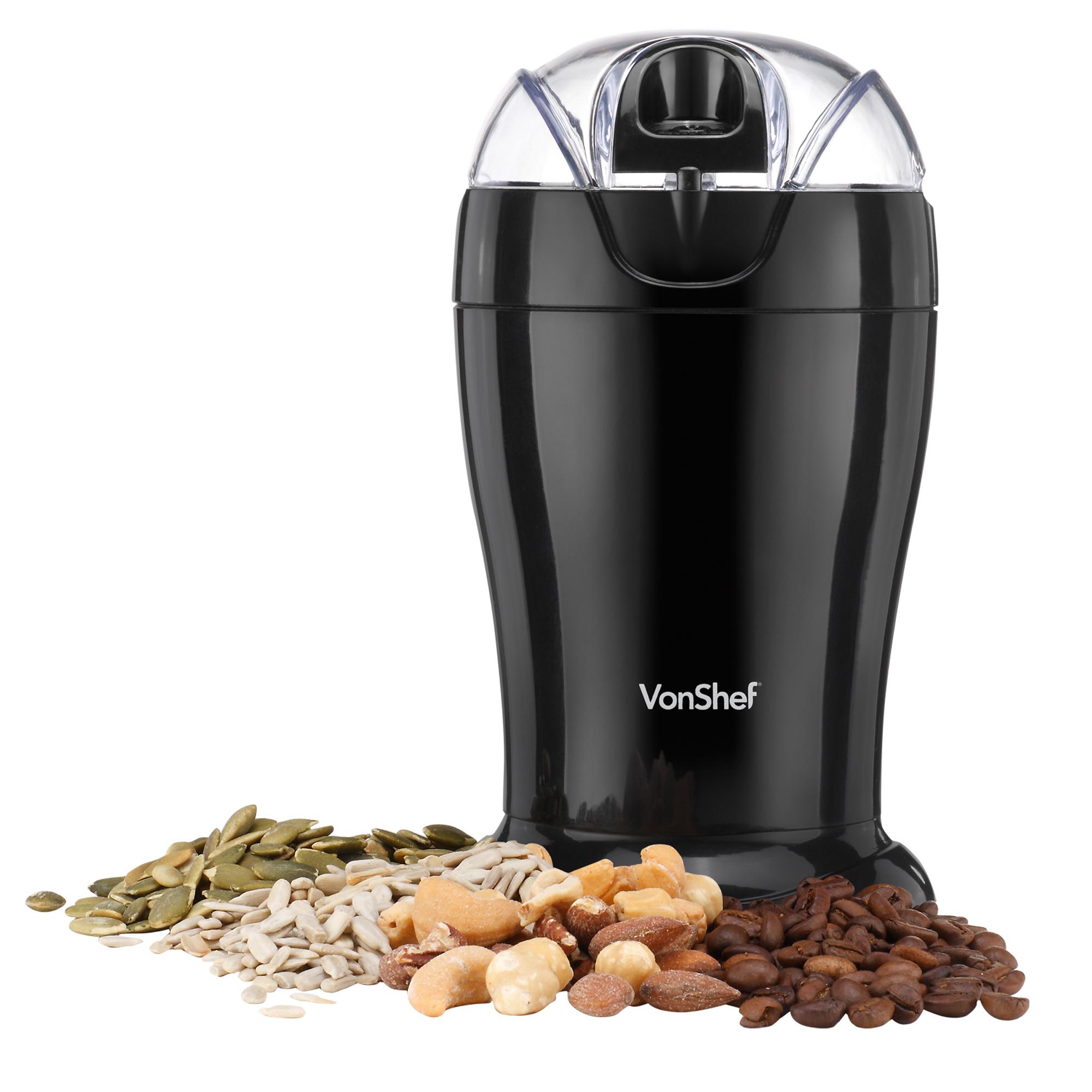 Coffee Maker Whole Bean Grinder : VonShef Electric Whole Coffee Bean Grinder Nut Spice Blender Espresso 150W eBay