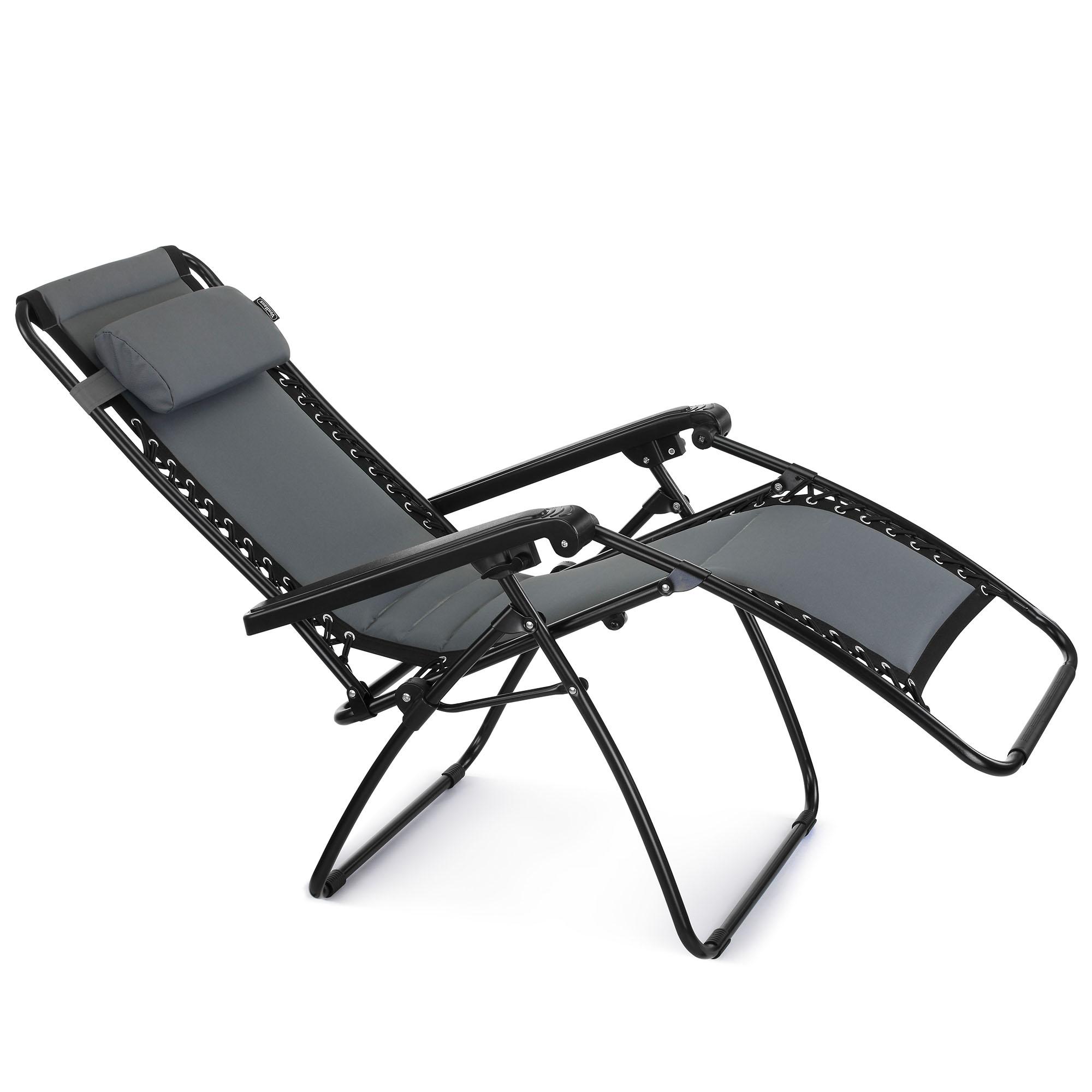 VonHaus Oxford 600D Padded Zero Gravity Chair Outdoor Garden Sun