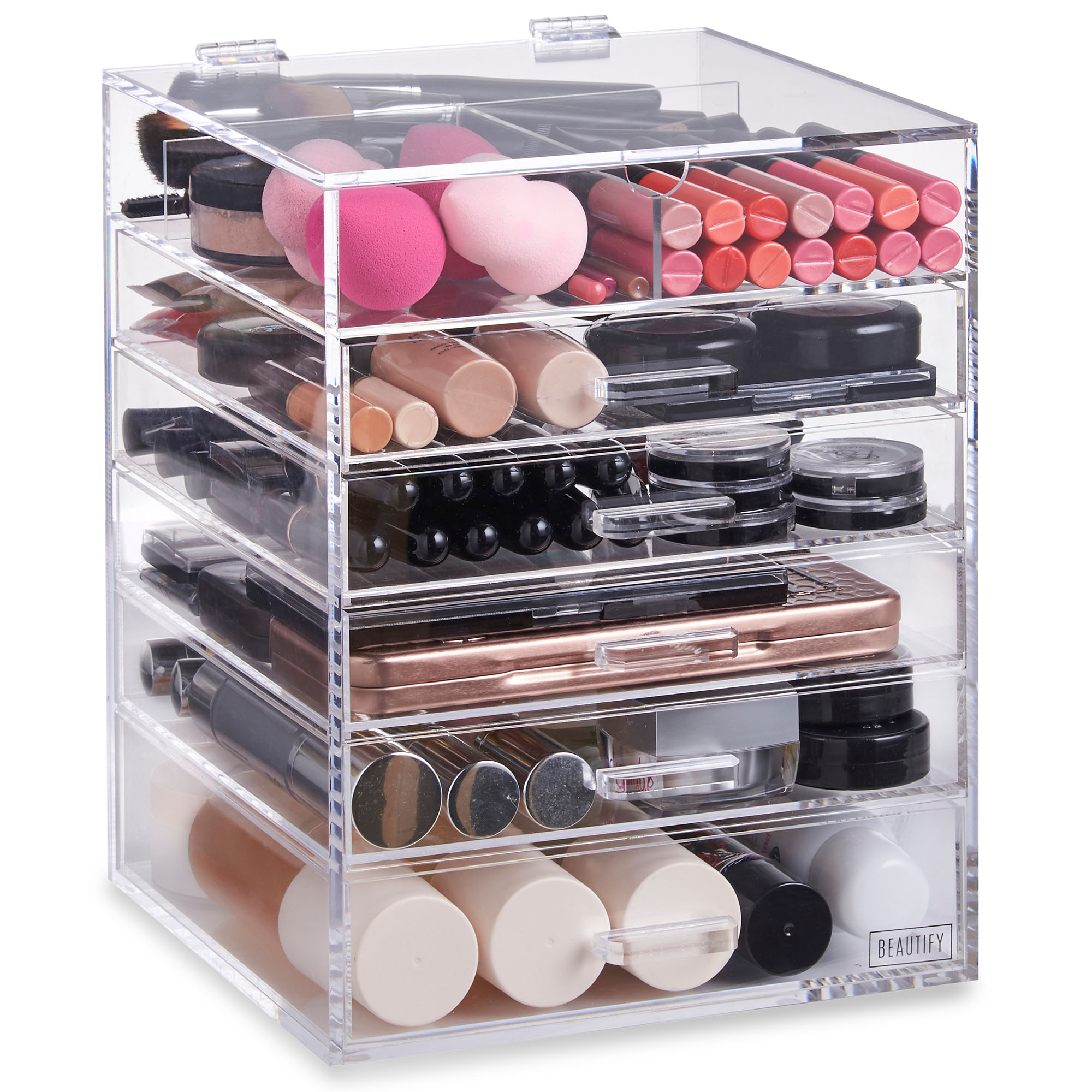 Beautify 6 Tier Clear Acrylic Cosmetic Makeup Organiser ...