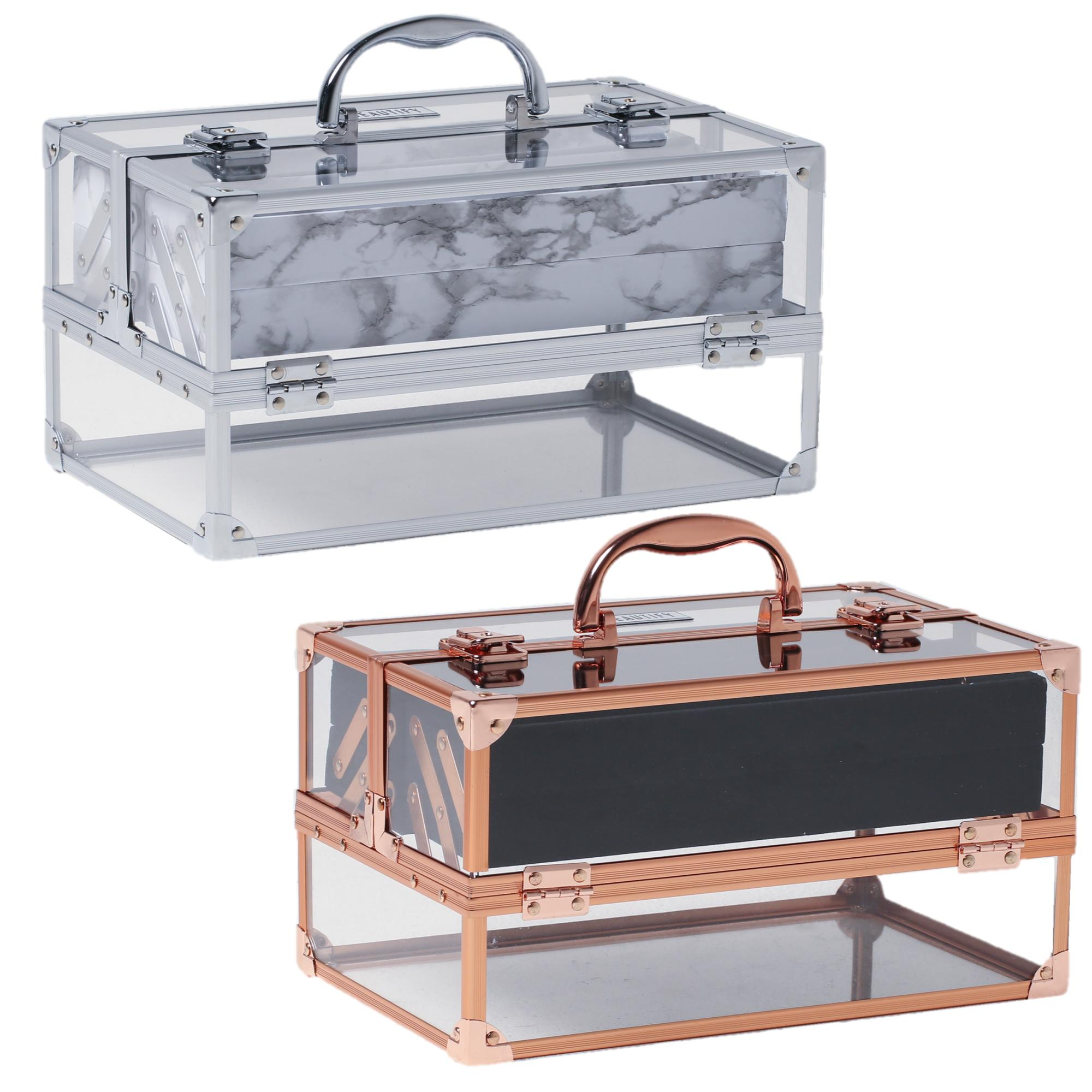 beautify large acrylic vanity make up beauty box cosmetics storage lockable case ebay. Black Bedroom Furniture Sets. Home Design Ideas