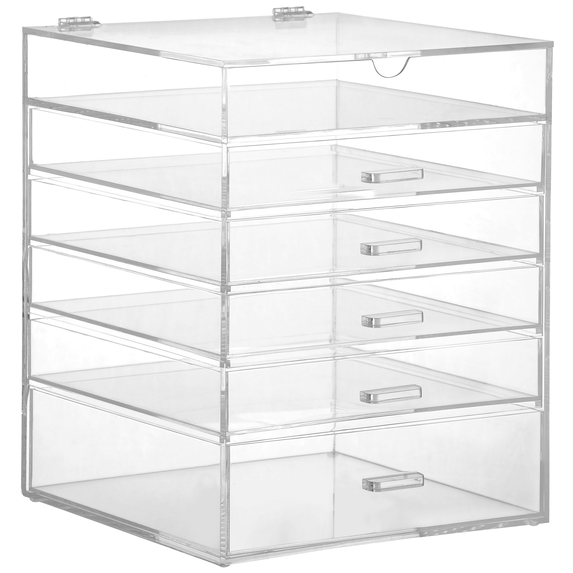 Beautify Acrylic Makeup Organiser 6 Tier Clear Cosmetic Storage