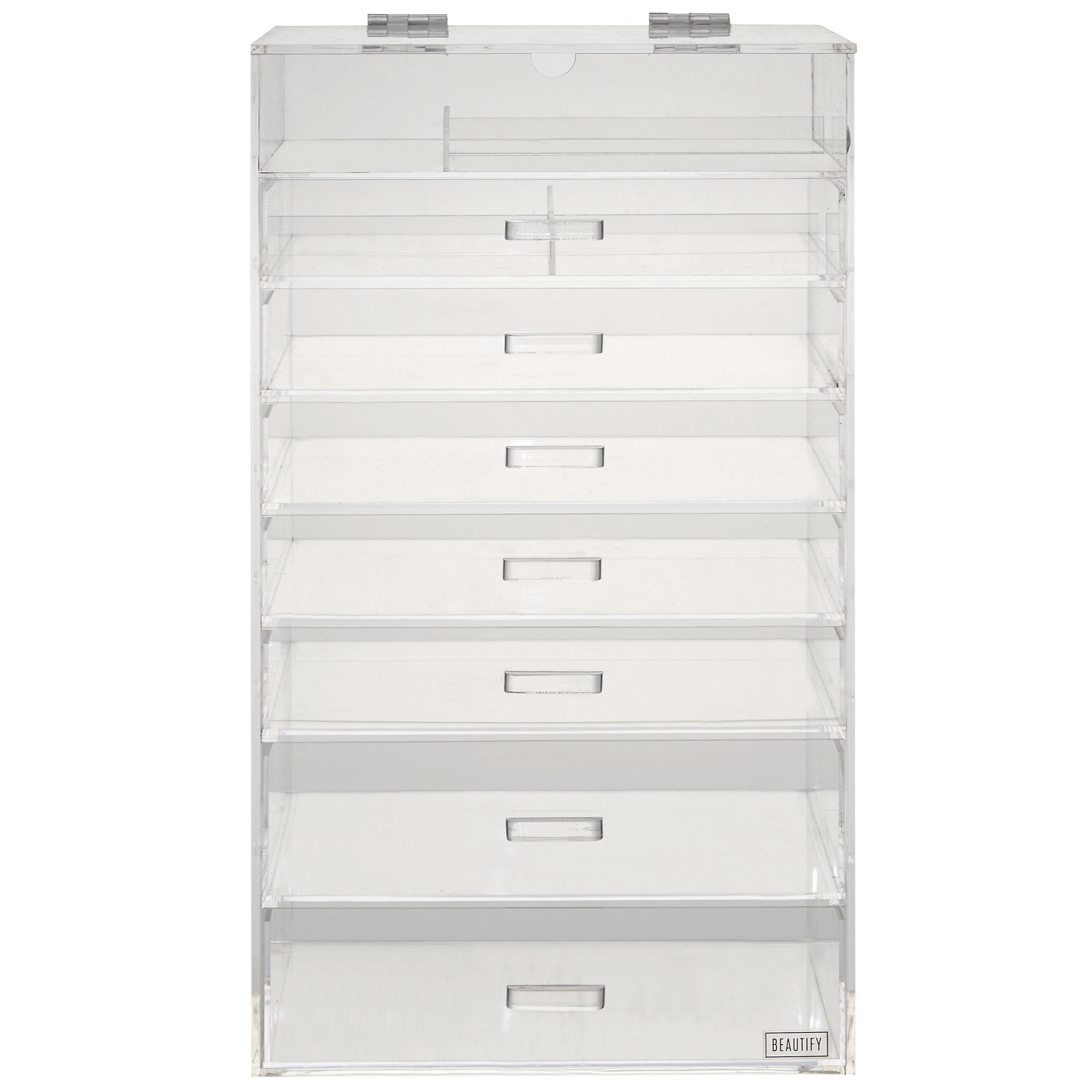 Beautify 8 Tier Acrylic Make Up Organiser Clear Cosmetics Storage