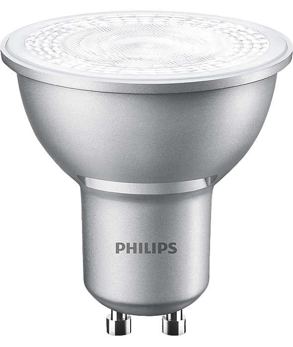 philips master value 4 3w 50w led dimmable gu10 bulb ebay. Black Bedroom Furniture Sets. Home Design Ideas