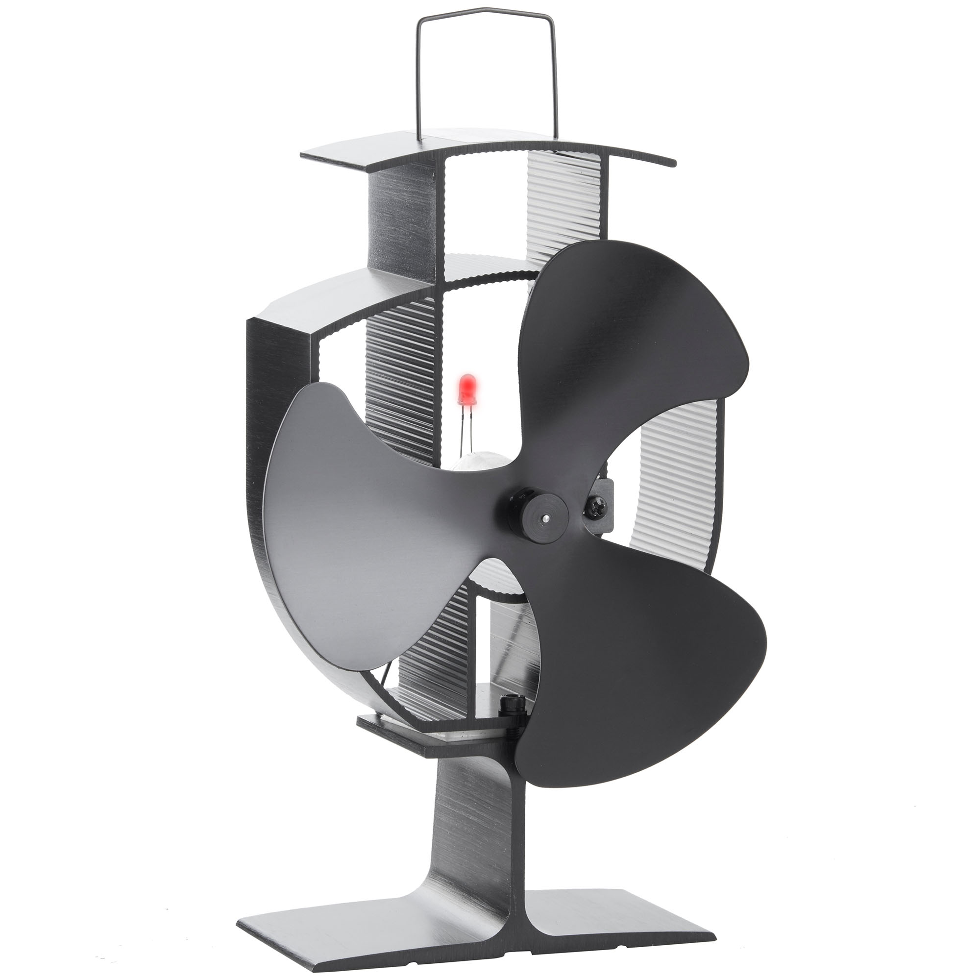 vonhaus heat powered 3 blade wood log burner stove eco fan. Black Bedroom Furniture Sets. Home Design Ideas
