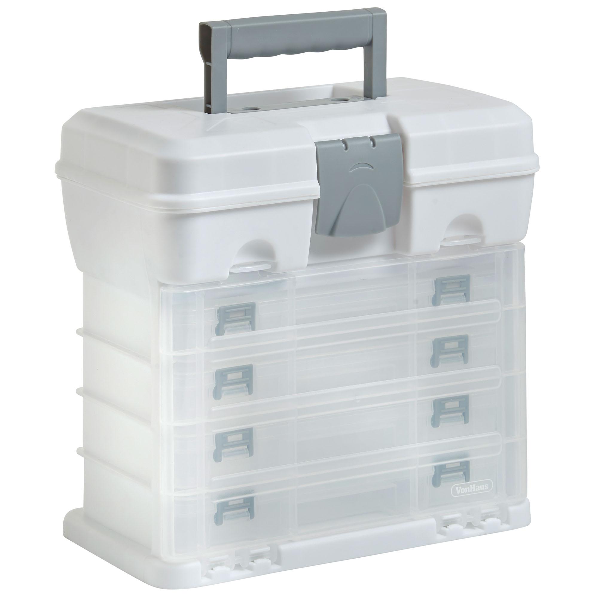 Portable Craft Storage : Vonhaus utility tool storage box portable arts crafts