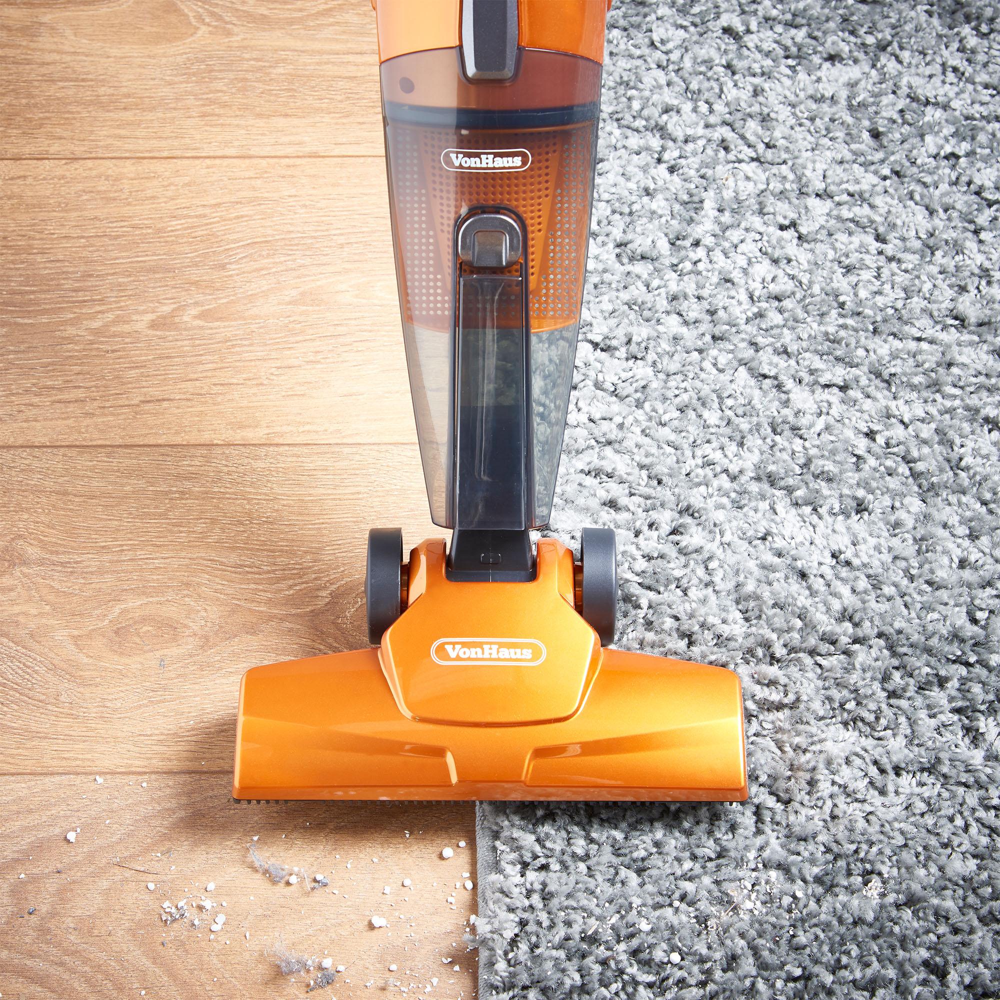 Vonhaus Orange 600w 2 In 1 Corded Upright Stick Handheld