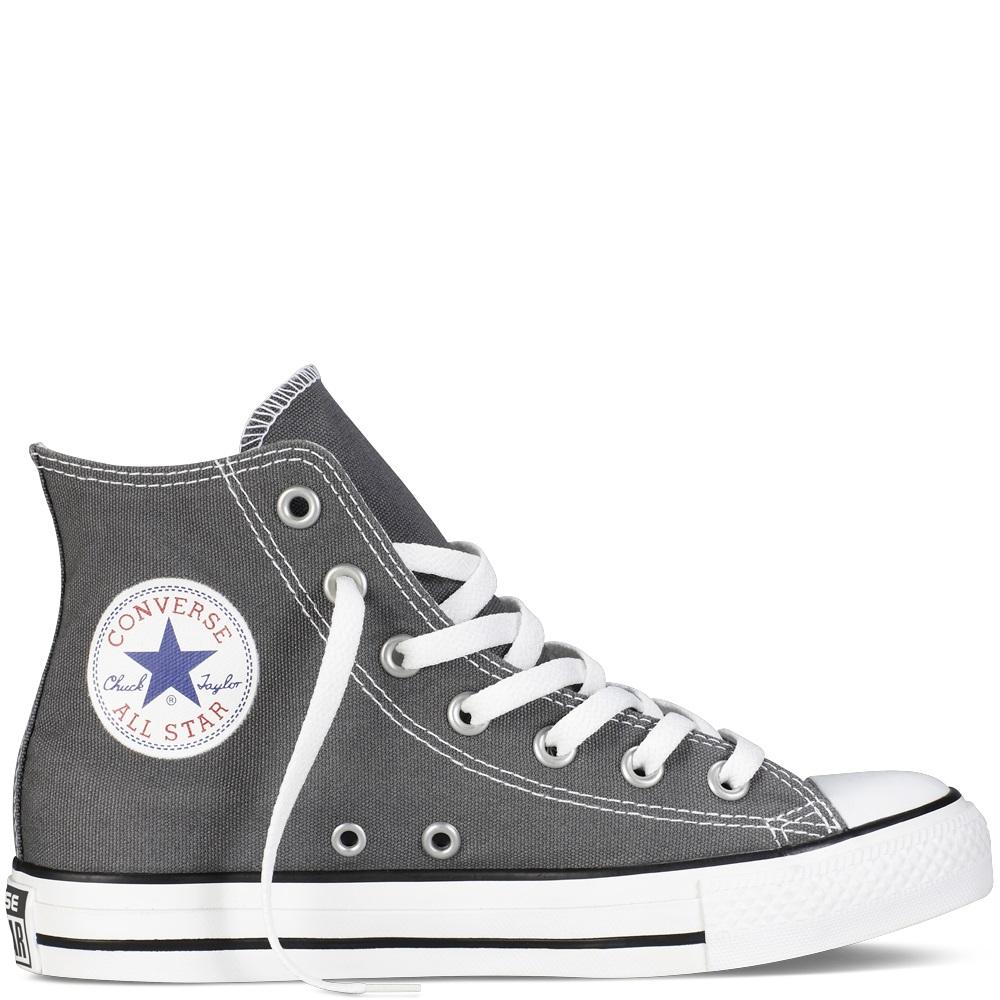 Converse Hi Top Mono All Black Trainers Shoes